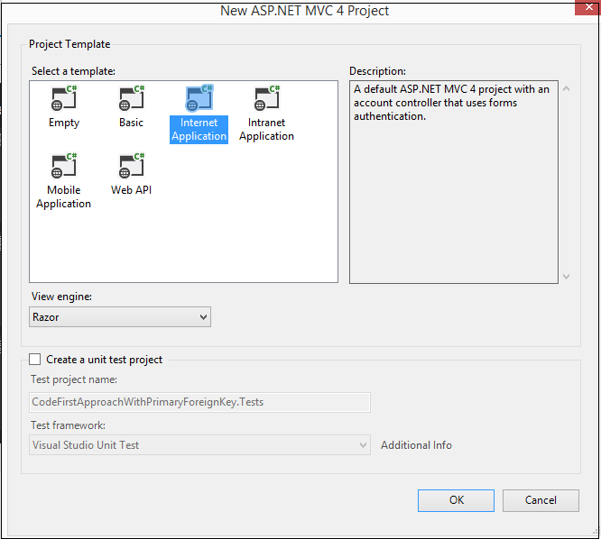 Code First Approach in MVC with Entity Framework with