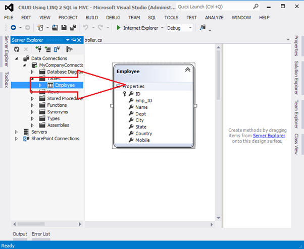 CRUD Operation in ASP NET MVC 4 Application Using LINQ To SQL